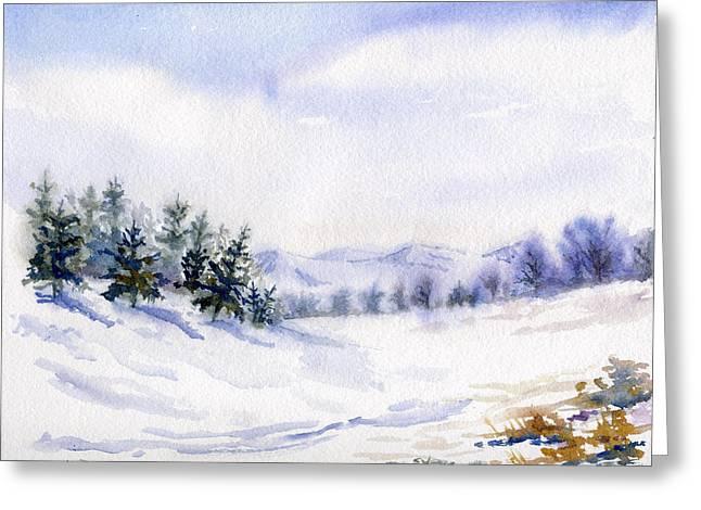 Winter Landscape Snow Scene Greeting Card
