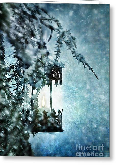 Winter Lantern Greeting Card