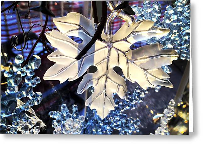 Winter Leaf Greeting Card