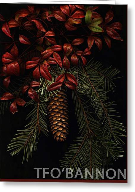 Leaves Of Winter Greeting Card