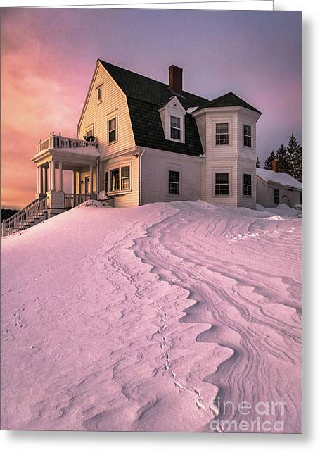 Winter Light At Marshall Point Greeting Card by Benjamin Williamson