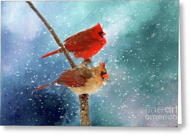 Winter Love Greeting Card by Darren Fisher