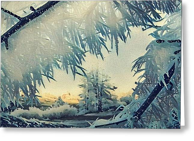 Greeting Card featuring the photograph Winter Magic by Colette V Hera Guggenheim