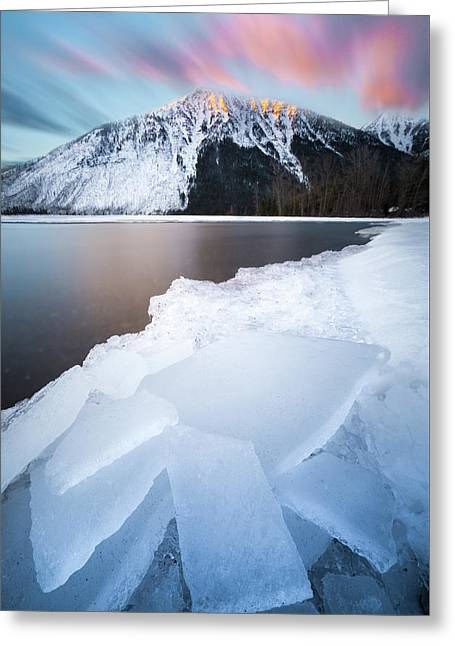 Winter Magic // Lake Mcdonald, Glacier National Park Greeting Card