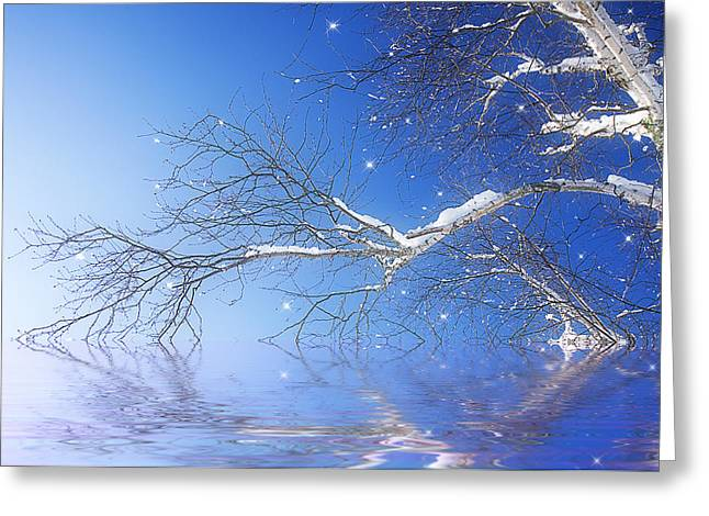 Winter Magic Greeting Card by Trudy Wilkerson