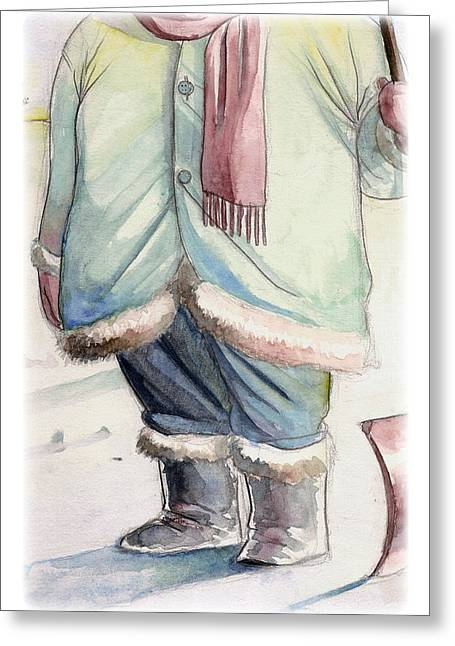 Greeting Card featuring the digital art Winter by Michael Myers