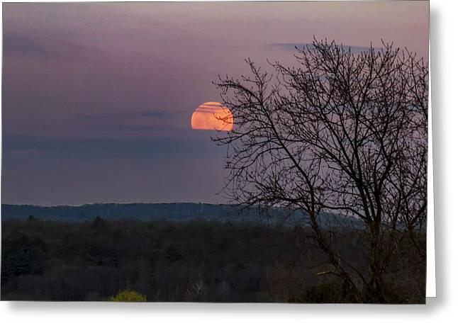 Greeting Card featuring the photograph Winter Moonrise by Sven Kielhorn