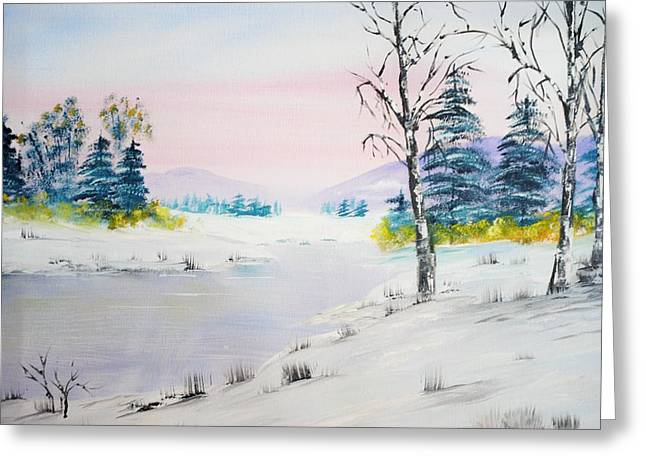Winter Morn Greeting Card by James Higgins