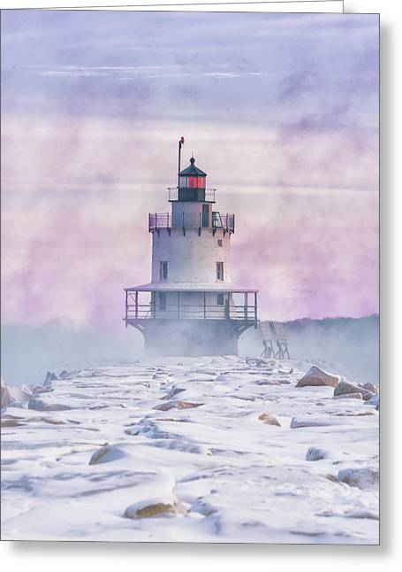 Winter Morning At Spring Point Ledge Greeting Card