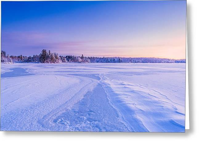 Winter Morning Baxter Lake Nh Greeting Card