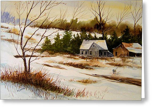 Winter Morning Greeting Card by Brooke Lyman