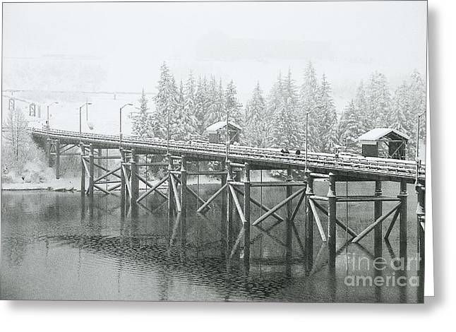 Winter Morning In The Pier Greeting Card