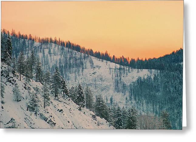 Winter Mountainscape  Greeting Card