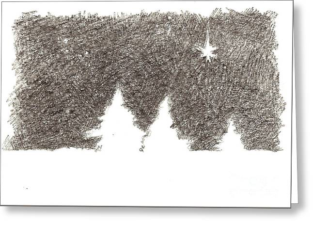 Winter Night - Aceo Greeting Card