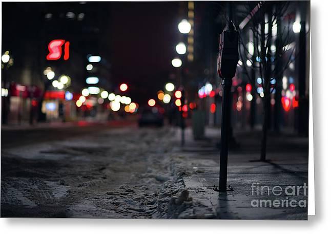Winter Nights Greeting Card by Ian McGregor