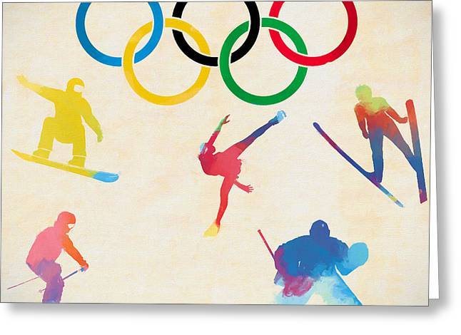 Winter Olympics Games Greeting Card