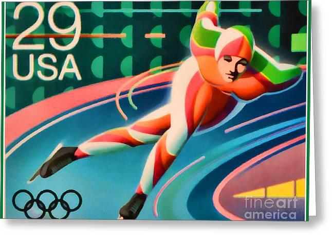 Winter Olympics - Speed Skating Greeting Card