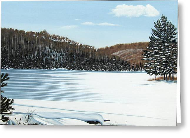 Winter On An Ontario Lake  Greeting Card