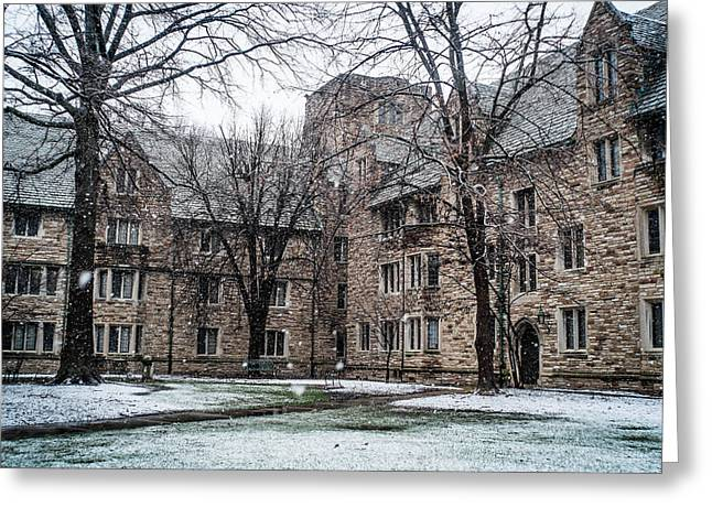 Winter On Campus Greeting Card by Rudy Owens
