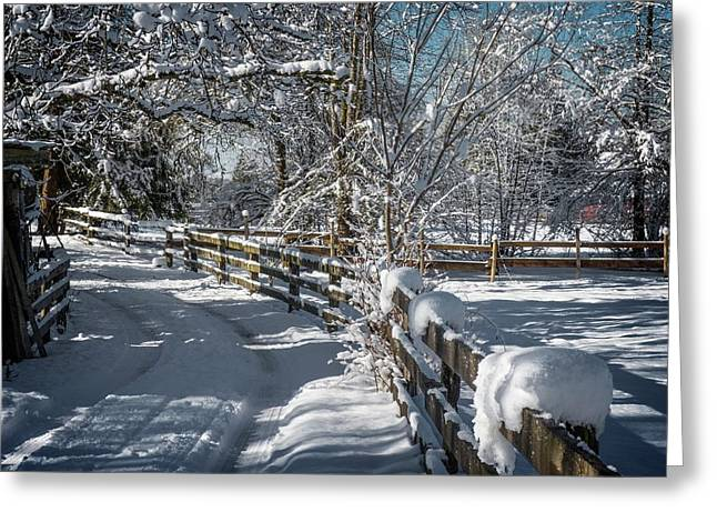 Winter On Ruskin Farm Greeting Card