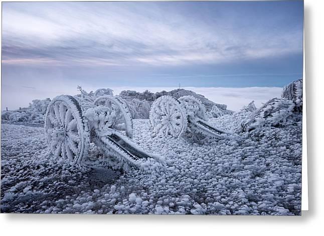Winter On Shipka Peak Greeting Card by Milen Dobrev
