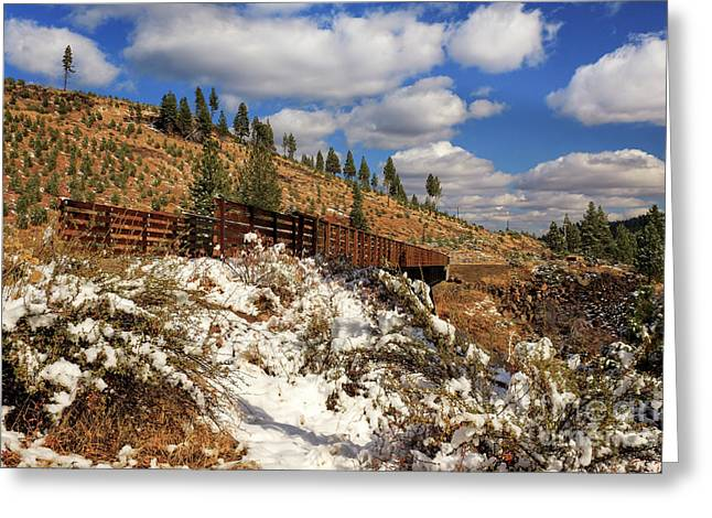 Winter On The Bizz Johnson Trail Greeting Card by James Eddy