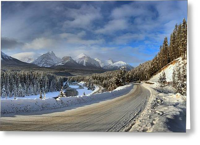 Morant's Curve On The Bow Valley Parkway Greeting Card by Adam Jewell