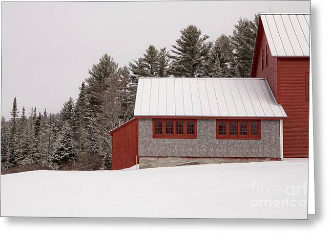 Winter On The Farm Greeting Card by Edward Fielding