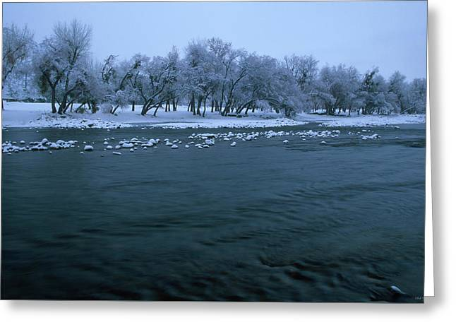 Winter On The Kern River Greeting Card by Soli Deo Gloria Wilderness And Wildlife Photography