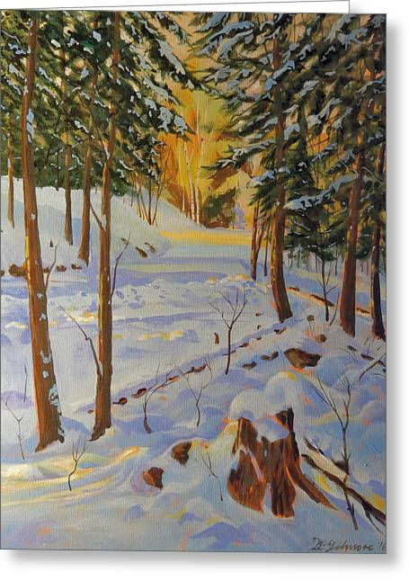 Winter On The Lane Greeting Card