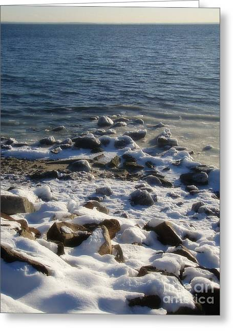 Greeting Card featuring the photograph Winter On The Long Island Sound by Kristine Nora