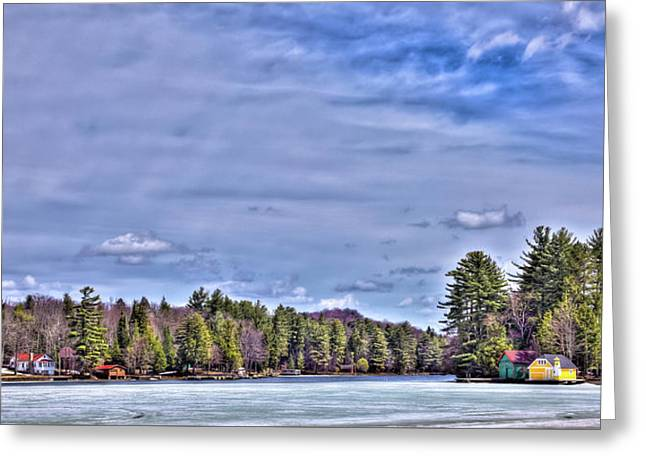 Greeting Card featuring the photograph Winter On The Pond by David Patterson
