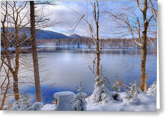 Winter On West Lake Greeting Card by David Patterson
