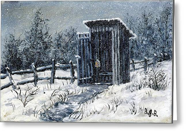 Winter Outhouse #2 Greeting Card