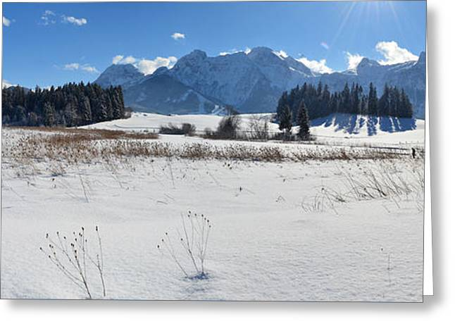Winter Panorama 2 Greeting Card by Sabine Jacobs