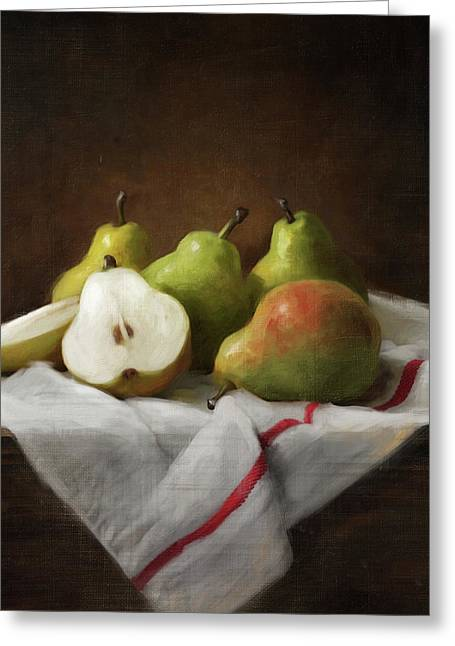 Winter Pears Greeting Card by Robert Papp