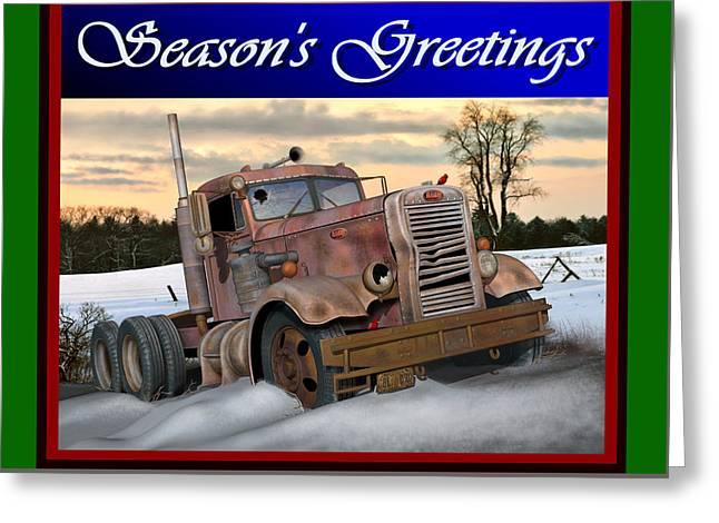 Winter Pete Season's Greetings Greeting Card by Stuart Swartz