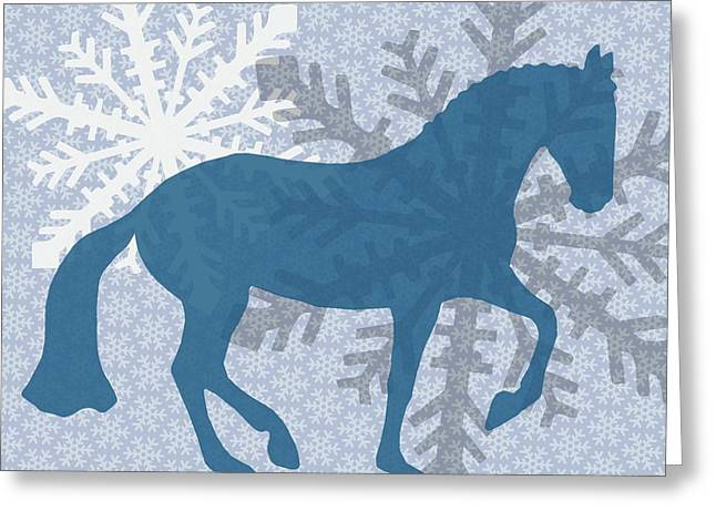 Winter Piaffe   Greeting Card by JAMART Photography