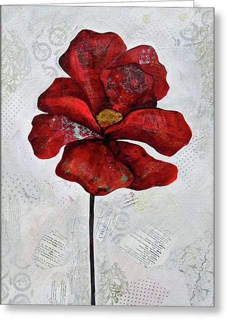 Winter Poppy I Greeting Card