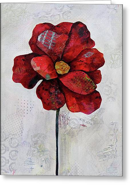 Winter Poppy II Greeting Card by Shadia Derbyshire