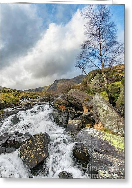 Winter Rapids Of Snowdonia Greeting Card