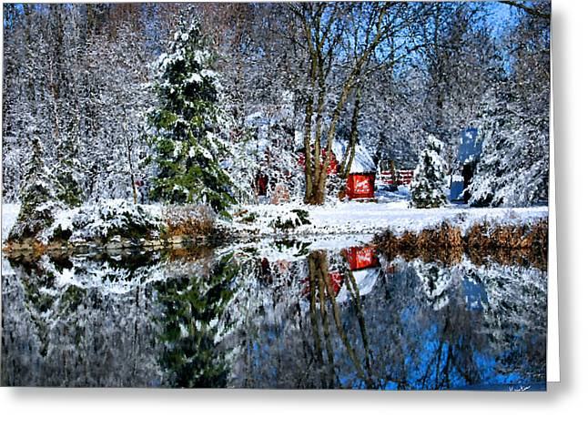Winter Reflection Greeting Card by Kristin Elmquist