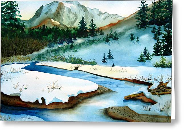 Winter Retreating Greeting Card by Karen Stark