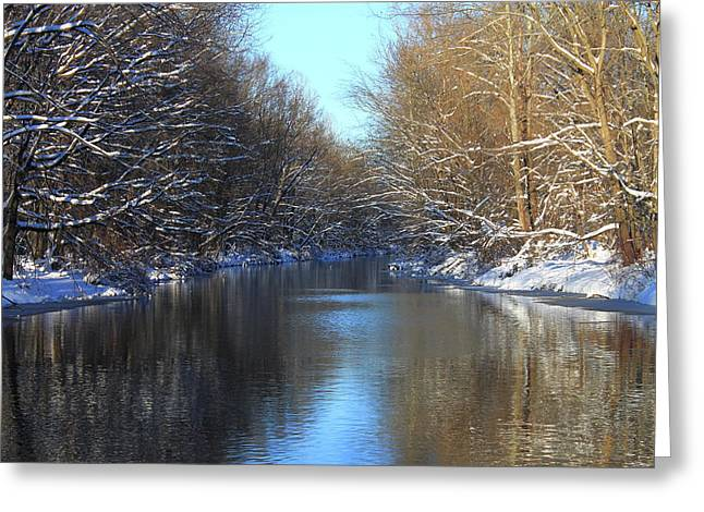 Winter River Greeting Card by Frank Romeo