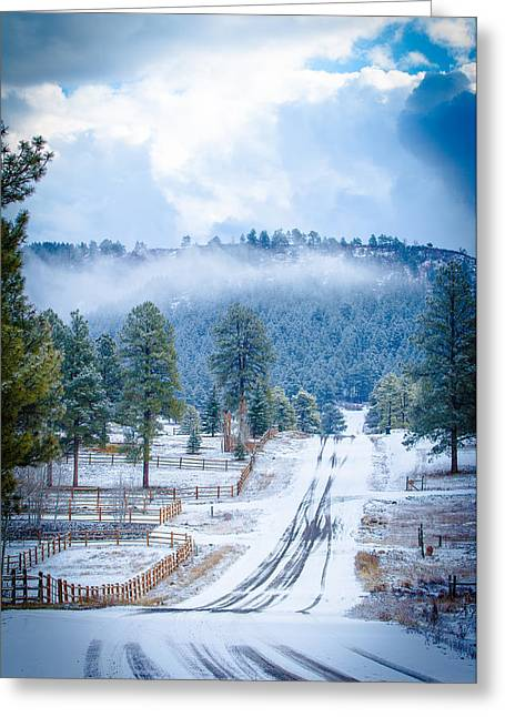 Greeting Card featuring the photograph Winter Road by Jason Smith