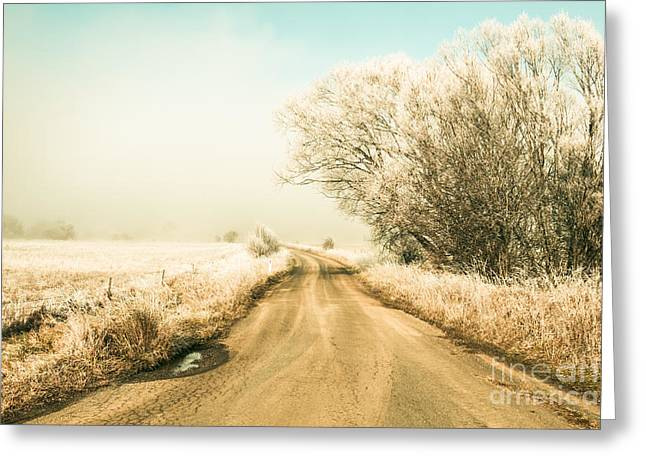Winter Road Wonderland Greeting Card by Jorgo Photography - Wall Art Gallery