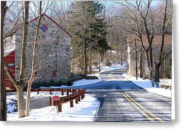 Winter Roads Greeting Card