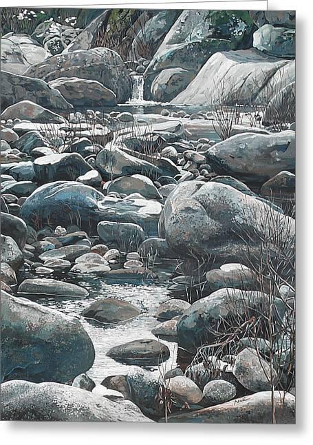 Winter Rocks Greeting Card by Nadi Spencer