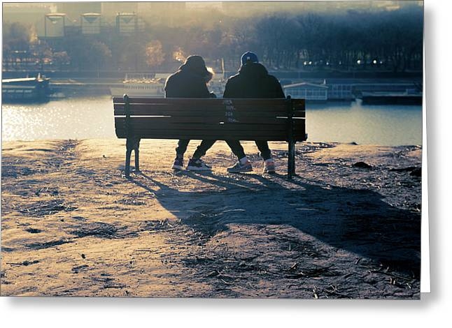 Winter Romance Greeting Card by Stelios Kleanthous