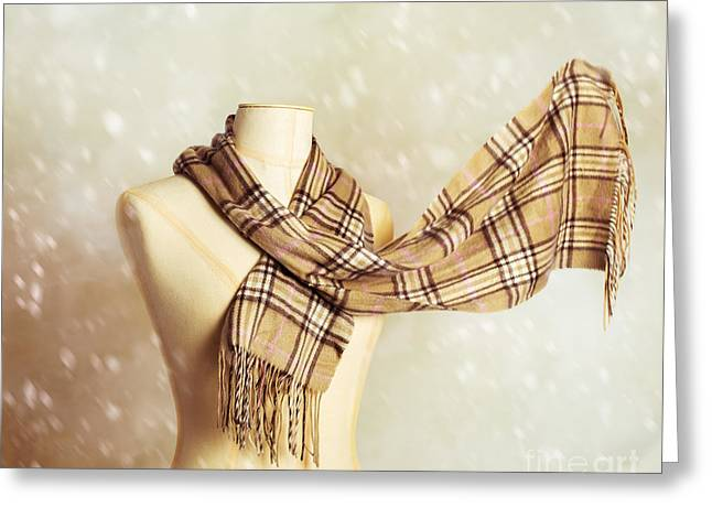 Winter Scarf Greeting Card
